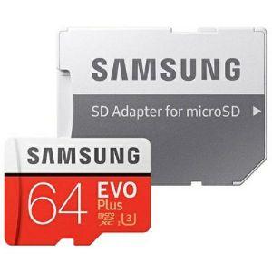 Memorijska kartica Samsung EVO Plus, microSD, HC Class10, 64GB + SD Adapter - MAXI PONUDA