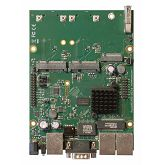 MikroTik fully featured RouterBOARD with 3 Gig Lan 2x mini PCIe