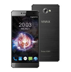 Mobitel Vivax Point X501, 5'' HD IPD 1280x720, Quad-core 1.3GHz, 2GB RAM, 16GB Memorija, Android 6.0, Crni