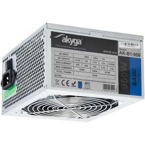 Napajanje AKYGA AK-B1-950 Basic 950W, P4+4 PCI-E 6pin, 6+2pin, 5x SATA, 2x Molex, 120mm fan - BEST BUY