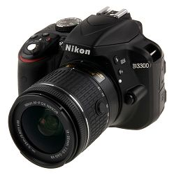 SLR fotoaparat Nikon D3300 Kit AF-P DX 18-55mm VR reflex camera black