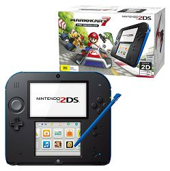 Nintendo New 2DS Console - Black & Blue + Mario Kart 7 3DS