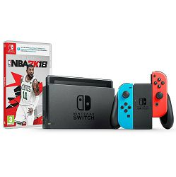 Nintendo Switch Console - Red & Blue Joy-Con + NBA 2K18 Switch