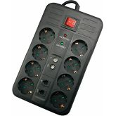 NaviaTec Multimedia Surge Protector 8 Outlets