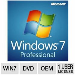 Microsoft Windows 7 Professional DSP 64-bit Eng SP1 DVD OEM LCP P/N: FQC-08289
