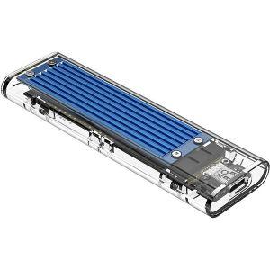 Orico vanjsko kućište M.2 SSD, NVMe/SATA (10Gbps), M-key+B-key, USB3.1, plavo (ORICO TCM2M-C3-BL-BP)