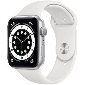 Pametni sat Apple Watch S6 GPS, 44mm, Silver Aluminium Case with White Sport Band - Regular, m00d3vr/a