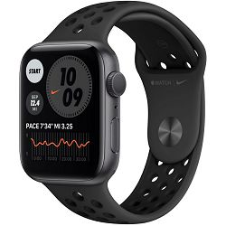 Pametni sat Apple Watch Nike S6 GPS, 44mm, Space Gray Aluminium Case with Anthracite/Black Nike Sport Band - Regular, mg173vr/a