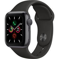 Pametni sat Apple Series 5 GPS, 40mm Space Grey Aluminium Case with Black Sport Band, mwv82vr/a