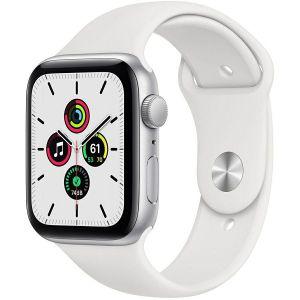 Pametni sat Apple Watch SE GPS, 44mm, Silver Aluminium Case with White Sport Band - Regular, mydq2vr/a