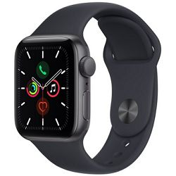 Pametni sat Apple Watch SE (v2), 40mm Space Gray Aluminium Case with Midnight Sport Band, mkq13vr/a