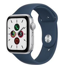 Pametni sat Apple Watch SE (v2), 44mm Silver Aluminium Case with Abyss Blue Sport Band, mkq43vr/a