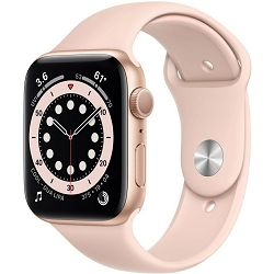 Pametni sat Apple Watch Series 6 GPS, 40mm, Gold Aluminum Case with Pink Sand Sport Band, mg123vr/a