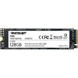 SSD Patriot P300 R1600/W600, 128GB, M.2 NVMe