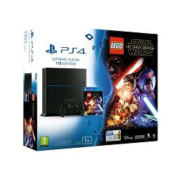 PlayStation 4 1TB C chassis Black + Lego Star Wars Force Awakens