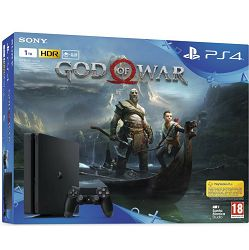 PlayStation 4 1TB E chassis Black + God of War