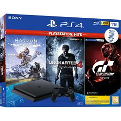 PlayStation 4 1TB F chassis + GT Sport + Horizon Zero Dawn CE + Uncharted 4 Hits + Days Gone
