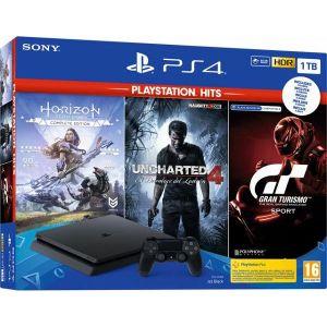 PlayStation 4 1TB F chassis + GT Sport + Horizon Zero Dawn CE + Uncharted 4 Hits + 2 HIT naslova po izboru