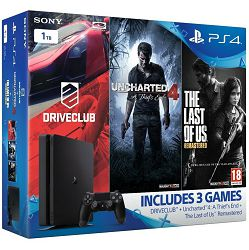 PlayStation 4 1TB Slim + Uncharted 4/Driveclub/The Last of Us Gamer bundle