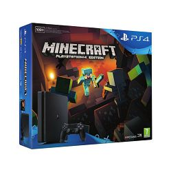 PlayStation 4 500GB D chassis Slim + Minecraft PS4