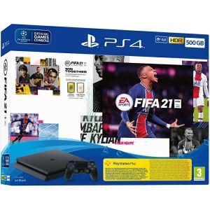PlayStation 4 500GB F Chassis Black + FIFA 21 + FUT Voucher + PS+ 14 dana