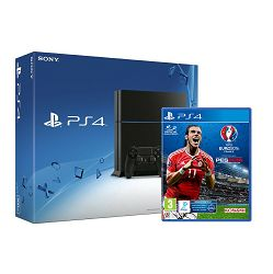PlayStation 4 500GB + PES 2016/EURO 2016 DLC PS4