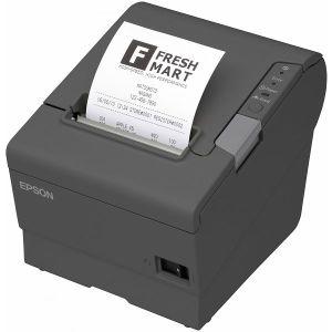 POS printer Epson TM-T88V, USB, Ethernet, QR ispis, dark grey