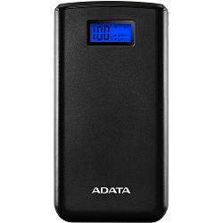 Power Bank Adata S20000D, 20.000mAh, Dual-USB, Crni