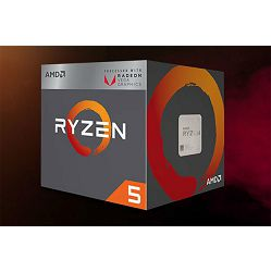 Procesor AMD CPU Desktop Ryzen 5 4C/8T 2400G (3.9GHz,6MB,65W,AM4) box, with Wraith Stealth cooler and RX Vega Graphics YD2400C5FBBOX