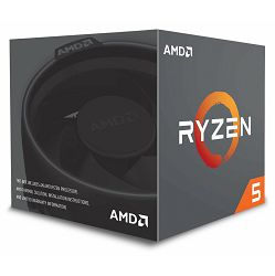 Procesor AMD Ryzen 5 2600X BOX, s. AM4, 3.5GHz, 19MB cache, Six Core, Wraith Stealth YD260XBCAFBOX