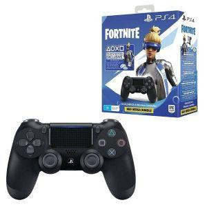 PS4 Dualshock Controller Black v2 + Fortnite VCH (2019) - 500 VBucks + HIT naslov po izboru