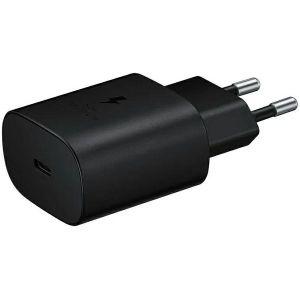 Strujni punjač Samsung TA800, 25W, Fast Charge, USB-C, bez kabela, crni