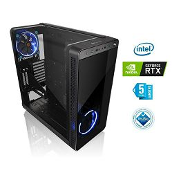Računalo INSTAR Gamer Anubis Pro, Intel Core i7 9700K up to 4.9GHz, 16GB DDR4, 250GB PCI-e SSD + 1TB HDD, NVIDIA GeForce RTX2080 8GB, no ODD, 5 god jamstvo