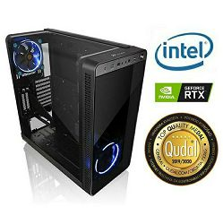 Računalo INSTAR Gamer Anubis Pro, Intel Core i9 9900K up to 5.0GHz, Vodeno hlađenje, 16GB DDR4, 256GB NVMe SSD + 2TB HDD, NVIDIA GeForce RTX2080 8GB, no ODD, 5 god jamstvo