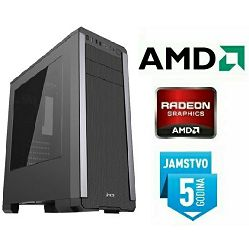 Računalo INSTAR Gamer Cyber 9700, AMD 10 9700 up to 3.8GHz, 8GB DDR4, 1TB HDD, AMD Radeon RX550 2GB DDR5, 5 god jamstvo - BEST BUY