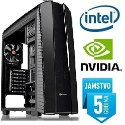 Računalo INSTAR Gamer Dominator Ti, Intel Core i5 8400 up to 4.0GHz, 8GB DDR4, 1TB HDD, Nvidia GeForce GTX1050 2GB, no DVD, 5 god jamstvo - AKCIJA
