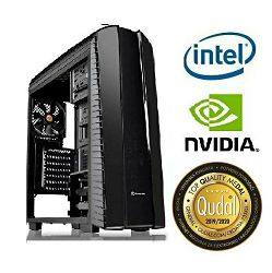 Računalo INSTAR Gamer Dominator, Intel Core i5 9400F up to 4.1GHz, 8GB DDR4, 1TB HDD + 128GB SSD, NVIDIA GeForce GTX1050 2GB, no DVD, 5 god jamstvo - MAXI PONUDA