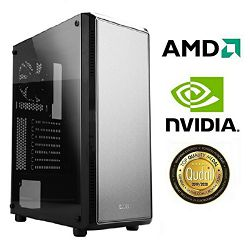 Računalo INSTAR Gamer Helios, AMD Ryzen 3 3100 up to 3.9GHz, 8GB DDR4, 250GB NVMe SSD, NVIDIA GeForce GTX1650 SUPER 4GB, no ODD, 2 god jamstvo - BEST BUY