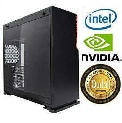 Računalo INSTAR Gamer Hurricane GT, Intel Core i5 9600K up to 4.6GHz, 16GB DDR4, 256GB PCIe NVMe SSD + 1TB HDD, NVIDIA GeForce RTX2060 6GB, no ODD, 5 god jamstvo - BEST BUY