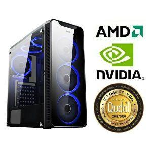 Računalo INSTAR Gamer HYDRA, AMD Ryzen 3 3200G up to 4.0GHz, 8GB DDR4, 250GB NVMe SSD, NVIDIA GeForce GTX1650 4GB, no ODD, 5 god jamstvo - BEST BUY