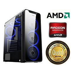 Računalo INSTAR Gamer HYDRA, AMD Ryzen 5 3400G up to 4.2GHz, 8GB DDR4, 256GB NVMe SSD + 1TB HDD, AMD Radeon RX5500 XT 4GB, no ODD, 5 god jamstvo - BEST BUY