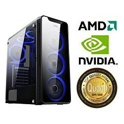 Računalo INSTAR Gamer HYDRA, AMD Ryzen 5 3400G up to 4.2GHz, 8GB DDR4, 256GB NVMe SSD + 1TB HDD, Nvidia GeForce GTX1650 SUPER 4GB, no ODD, 5 god jamstvo