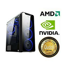 Računalo INSTAR Gamer HYDRA, Ryzen 5 2400G up to 3.9GHz, 8GB DDR4, 120GB SSD + 1TB HDD, Nvidia GeForce GTX1050Ti 4GB, no ODD, 5 god jamstvo - BEST BUY