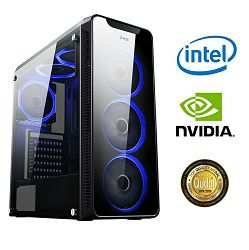 Računalo INSTAR Gamer Prime, Intel Core i5 9400 up to 4.1GHz, 8GB DDR4, 256GB NVMe SSD, NVIDIA GeForce GTX1650 SUPER 4GB, no ODD, 5 god jamstvo