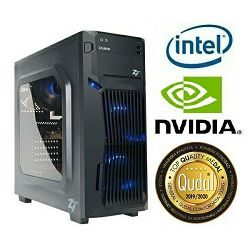 Računalo INSTAR Gamer Profundis Pro GT, Intel Core i5-8500 up to 4.10GHz, 8GB DDR4, 120GB SSD + 1TB HDD, Nvidia GeForce GTX1050Ti 4GB, DVD-RW, 5 god jamstvo