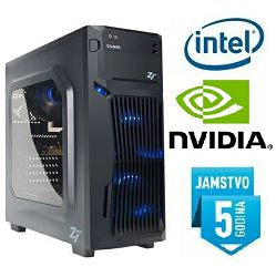 Računalo INSTAR Gamer Profundis XS, Intel Core i3-8100 3.60GHz, 8GB DDR4, 120GB SSD + 1TB HDD, Nvidia GeForce GTX1050Ti 4GB, DVD-RW, 5 god jamstvo
