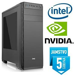 Računalo INSTAR Gamer Ultra, Intel Core i3 7100 3.9GHz, 8GB DDR4, 1TB HDD, NVIDIA GeForce GTX1050 2GB DDR5, DVD-RW, 5 god jamstvo