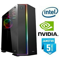 Računalo INSTAR Gamer Zeus Pro, Intel Core i5 8500 up to 4.1GHz, 8GB DDR4, 240GB SSD, NVIDIA GeForce GTX1060 6GB, no ODD, 5 god jamstvo