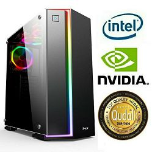 Računalo INSTAR Gamer Zeus Pro, Intel Core i5 9500 up to 4.4GHz, 8GB DDR4, 256GB NVMe SSD + 1TB HDD, NVIDIA GeForce GTX1660Ti 6GB, no ODD, 5 god jamstvo