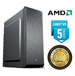 Računalo INSTAR Master VEGA, AMD Athlon 200GE up to 3.2GHz, 4GB DDR4, 120GB SSD + 1TB HDD, AMD Radeon Vega 3 Graphics, DVD-RW, 5 god jamstvo - BEST BUY